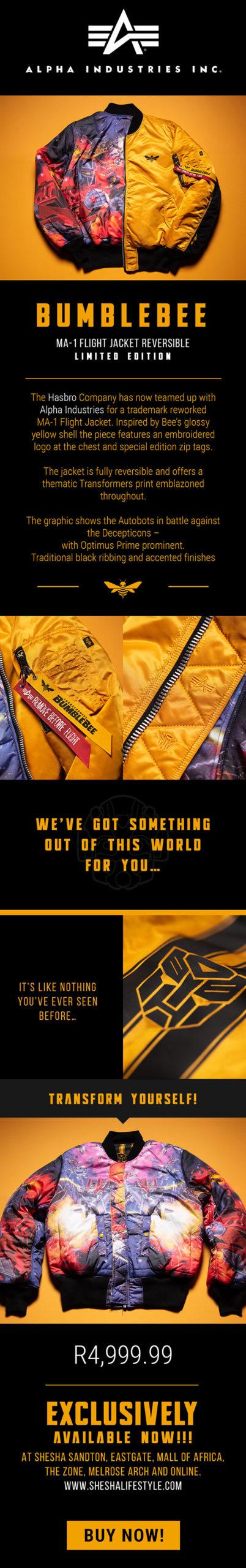 Shesha lifetyle Newsletter Jacket Bumble bee Promotion
