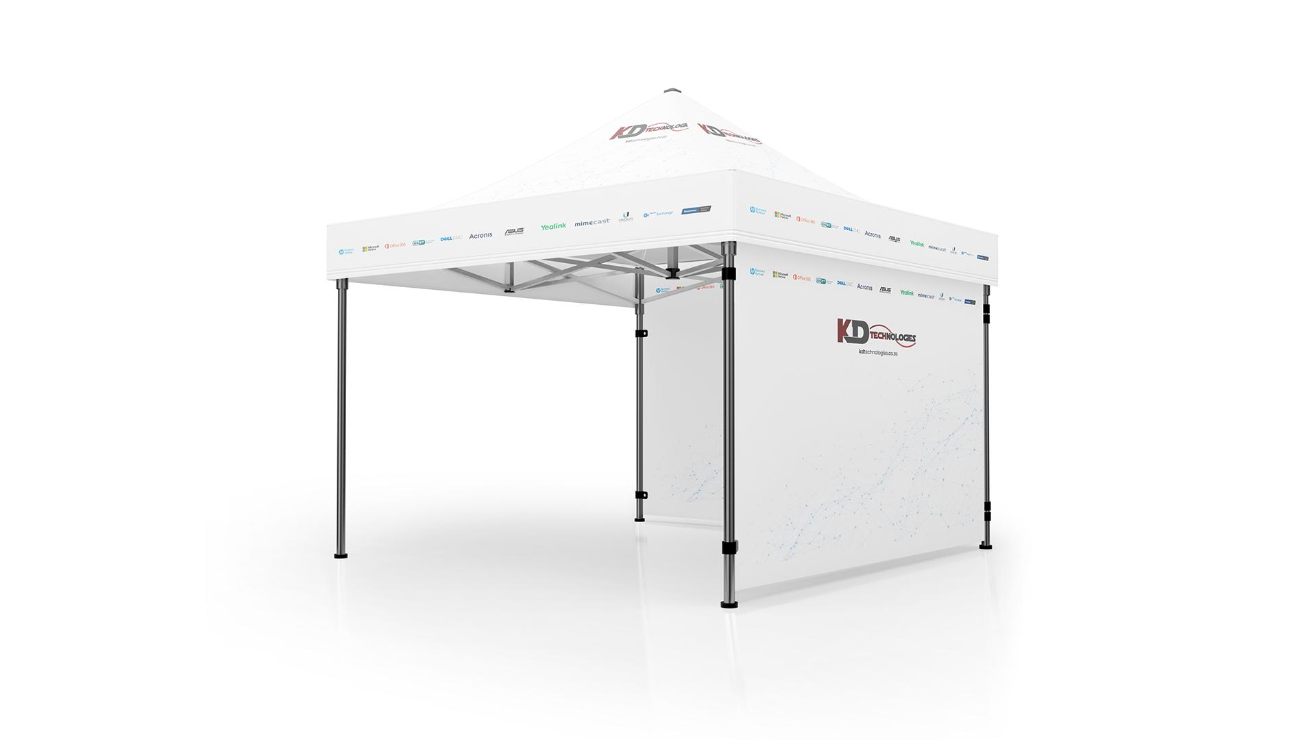 KD Technologies Gazeebo Tent Advertising Mockup