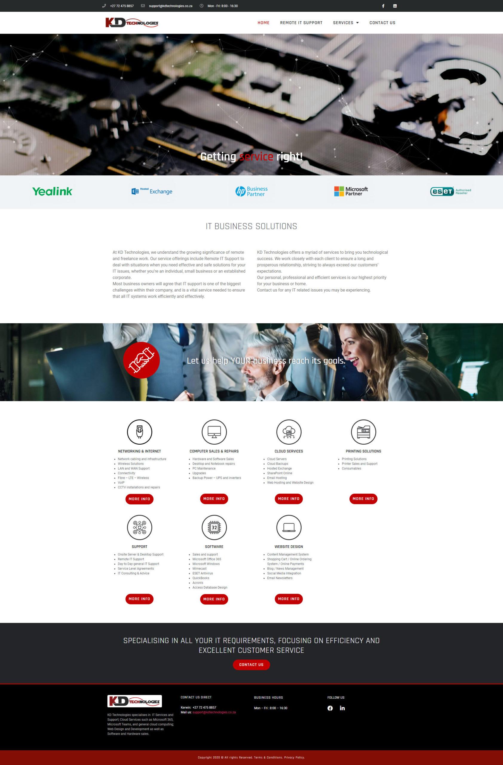 KD Technologies Website Design